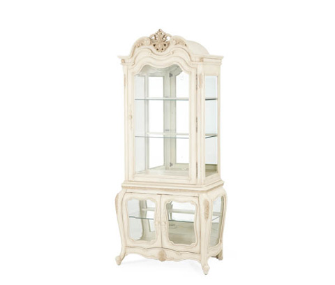 Image of Glass Encased Curio Display Cabinet