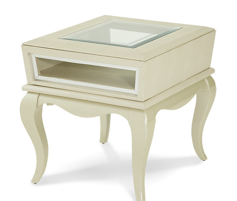 Michael Amini - Pearl Croc End Table - 19202-12