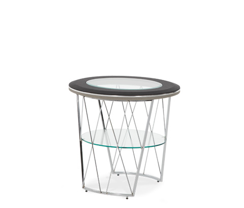 Michael Amini - Round Glass Top End Table - 06202-92