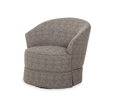 Michael Amini - Swivel Chair with Skirt - 19839-PEPPR-00