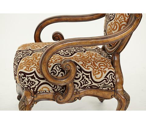 Michael Amini - Oval Back Wood Chair - 54834-BRGLD-34