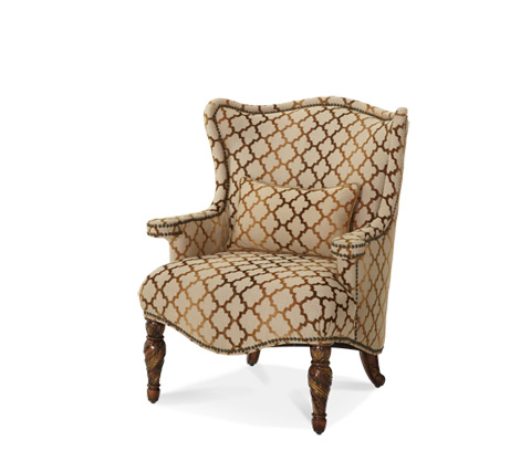 Michael Amini - Wing Chair - 72836-GRBRZ-55