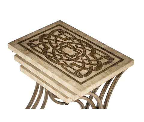 Michael Amini - Three Piece Nesting Tables - ACF-NST-ATHN-003