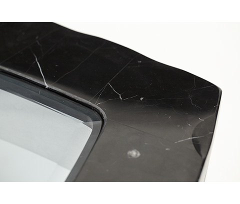 Michael Amini - Black Onyx End Table - NU03202-88