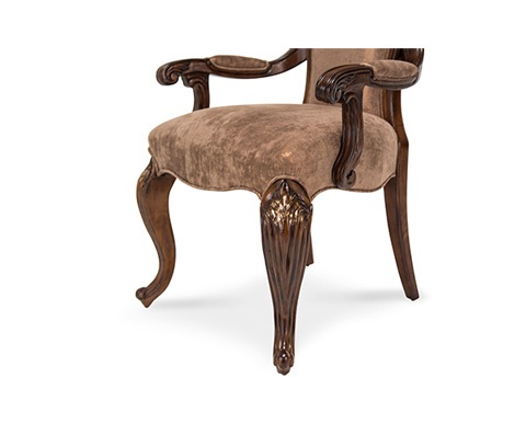 Michael Amini - Platine de Royale Arm Chair in Light Espresso - 09004-229