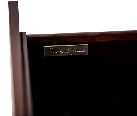 Michael Amini - Cloche TV Stand in Bourbon - 10095-32