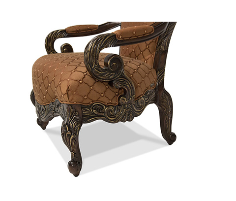 Michael Amini - High Back Wood Trim Chair - 76834-BRGRN-57