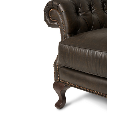 Michael Amini - Knightsbridge Charterhse Leather Chair - FS-KNGHT35-GLL-43