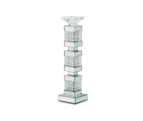 Michael Amini - Montreal Mirrored Crystal Tall Candleholder - FS-MNTRL151-PK2