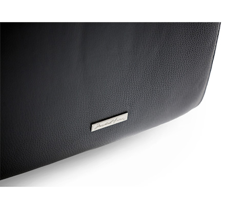 Michael Amini - Magrena Leather Loveseat - MB-MAGRN25-BLK-13