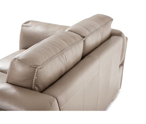Michael Amini - Monica Leather Standard Sofa in Taupe Rose Gold - MB-MNICA15-TPE-801