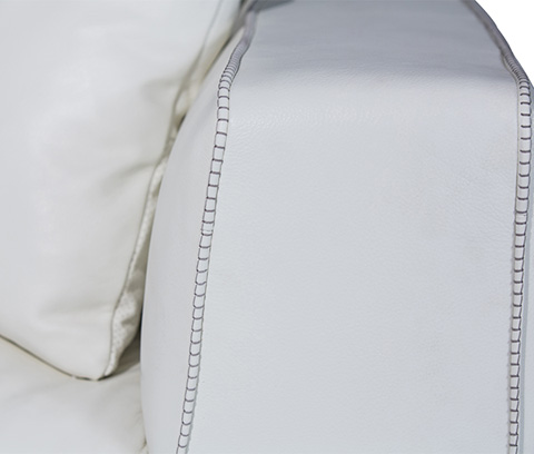 Michael Amini - Sophia Leather Standard Sofa - MB-SOPHI15-WHT-13