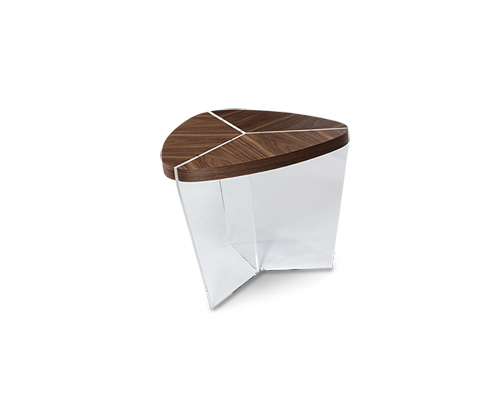 Michael Amini - Sector Triangular End Table - TR-SECTR202