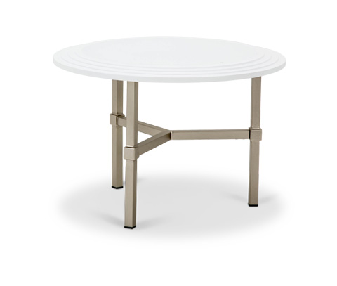 Michael Amini - Vortex Round Cocktail Table with Glass Top - TR-VORTX204W