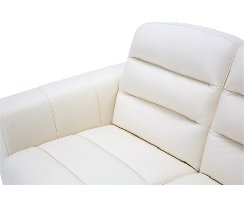 Michael Amini - Elena Leather Loveseat - MBLP-ELENA25-ICB-13