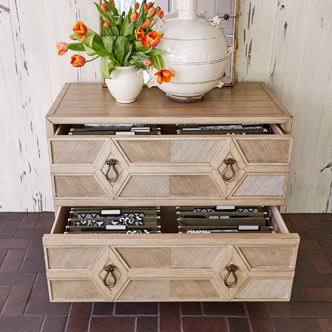 Ambella Home Collection - Diamond Two Drawer Cabinet - 04602-350-001