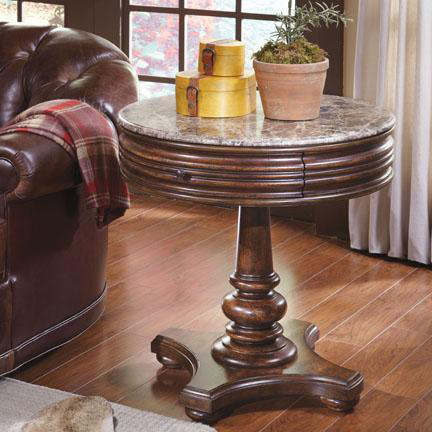 A.R.T. Furniture - Whiskey Oak Round Side Table - 205303-2304