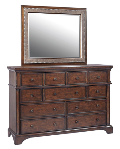 Image of Mirror with Leather Trim