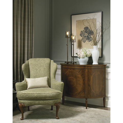 Baker Furniture - Demilune Console Cabinet - 2571