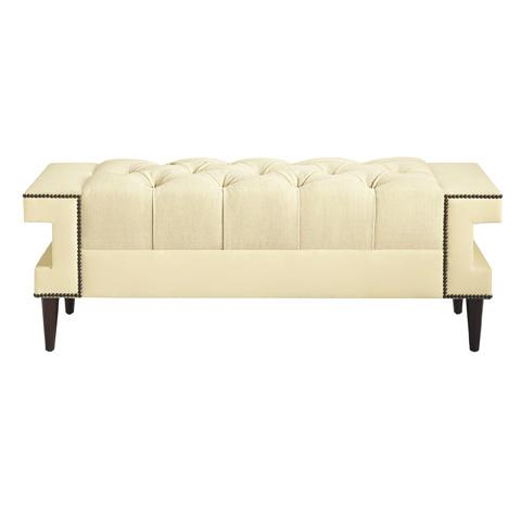 Baker Furniture - Cleo Tufted Bench - 6389