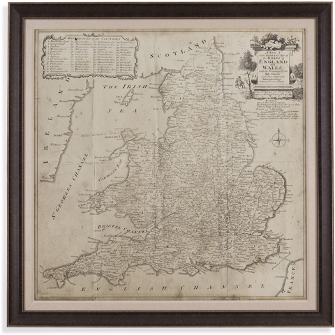 Image of Road Map of England & Wales