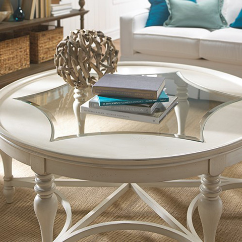 Bassett Mirror Company - Sanibel Round Cocktail Table - 2862-120