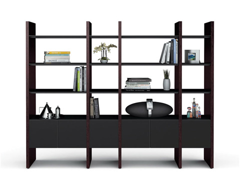 BDI - Four Section Bookcase - 5404-GB