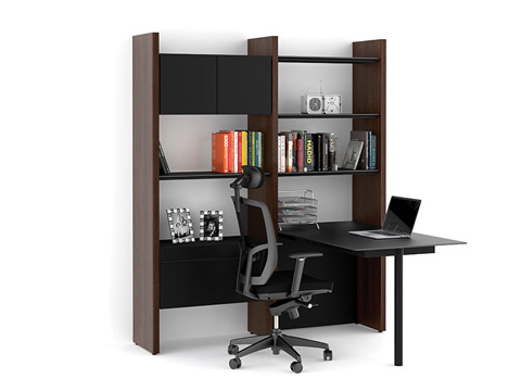 BDI - Desk with Bookshelf - 5412-PR
