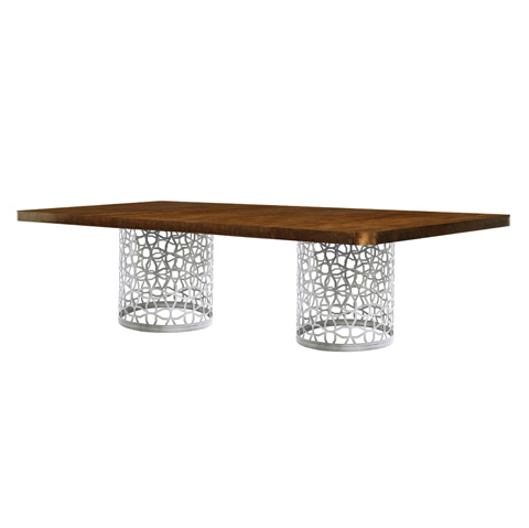 Belle Meade Signature - Gardner Modern Geometric Base Dining Table - 6094