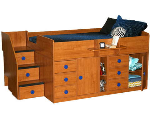 Berg Furniture - Full Captain's Bed with Storage - 22-732-10