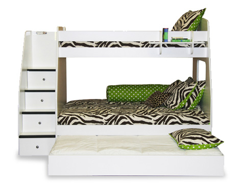 Berg Furniture - Twin over Full Bunk Bed with Stairs - 40-515-94