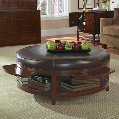 Bernhardt - Park West Leather Storage Cocktail Table - 376-028