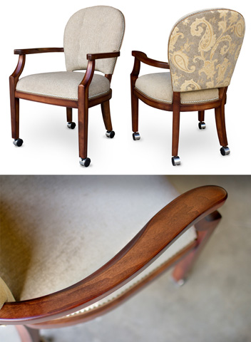 California House - Arm Chair with Casters - C3710