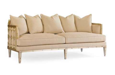 Caracole - The Bee's Knees Sofa - UPH-SOFWOO-48A