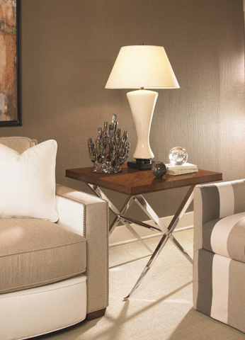 Century Furniture - Square Metal Lamp Table - 559-639