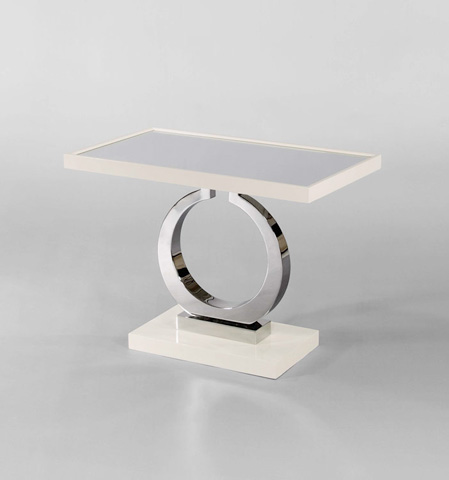 Century Furniture - Metal Pedestal Side Table with Mirrored Top - 849-603