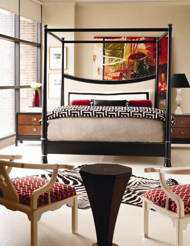 Century Furniture - Foshan King Upholstered Canopy Bed - 699-166