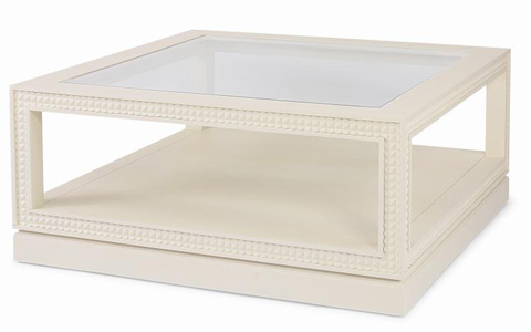 Century Furniture - Square Glass Top Cocktail Table - 339-603