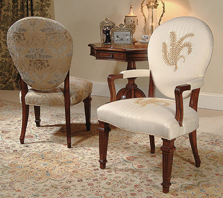 Century Furniture - Cameo Back Arm Chair - 3408A
