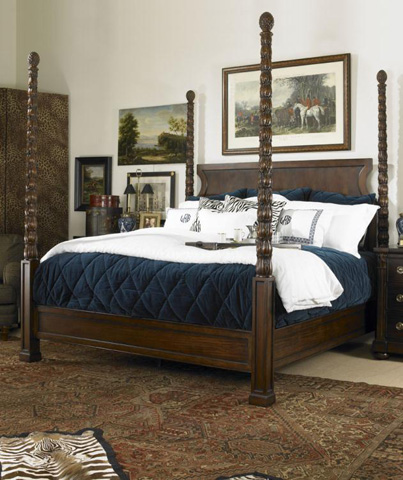 Century Furniture - King's Road King Poster Bed - 36H-146
