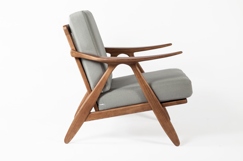 Control Brand - The Hattern Lounge Chair - FEC6339GREY