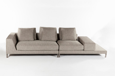 Control Brand - The Messina Sectional Sofa - FQS1303GREY
