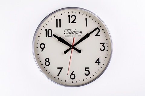 Control Brand - The Corby Wall Clock in Silver - G131512SILVER