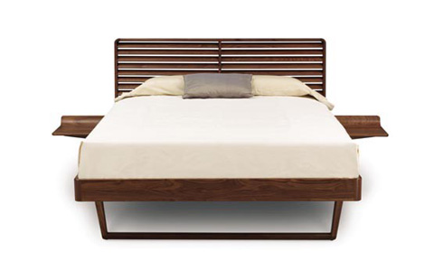 Image of Contour Bed with Nightstands - Walnut