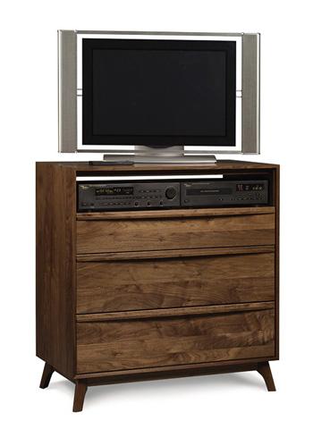 Copeland Furniture - Catalina 3 Drawer TV Organizer - Walnut - 2-CAL-35-04