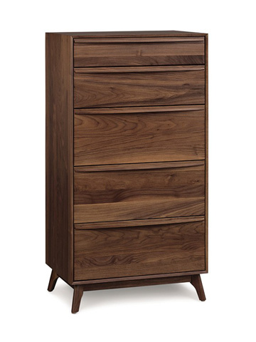 Catalina 5 Drawer Chest - Walnut