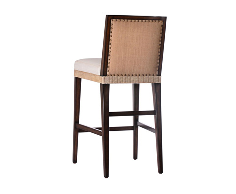 Curate by Artistica Metal Design - Wicker and Burlap Counter Stool - C403-030
