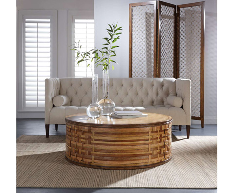 Curate by Artistica Metal Design - Woodweave Round Cocktail Table - C403-240