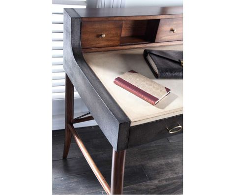 Curate by Artistica Metal Design - Worn Black Canvas Desk - C404-350