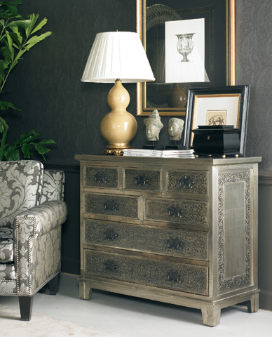 CTH-Sherrill Occasional - Hammered Metal Chest - 173-965